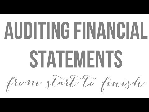 Financial Statement (Substantive) Audit - From Start To Finish | CAREER