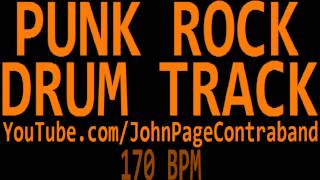 Punk Rock Drum Backing Track 170 bpm DRUMS ONLY