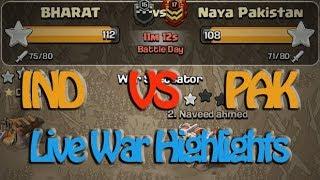 INDIA VS PAKISTAN | BEST INDIAN CLAN WAR EVER IN COC | LIVE WAR ATTACKS | AK Scorpion