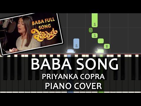 Baba Song Ventilator|Priyanka Chopra|Piano Chord Tutorial Lesson Instrumental Karaoke By Ganesh Kini