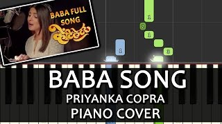 Baba Song Ventilator|Priyanka Chopra|Piano Chord Tutorial Lesson Instrumental Karaoke By Ganesh Kini