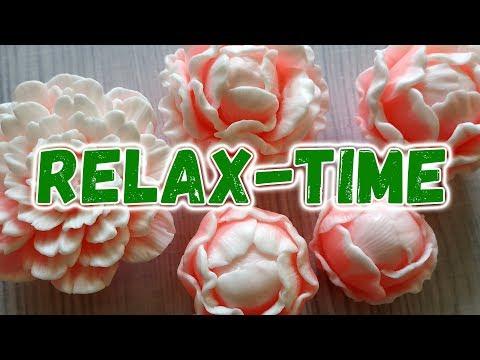 Relax-time 🌸 Заливка моих новых форм пионов 🌸 Мыловарение 🌸 Цветы из мыла
