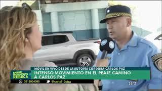 Controles policiales en ruta hacia Carlos Paz por el Día de la Primavera