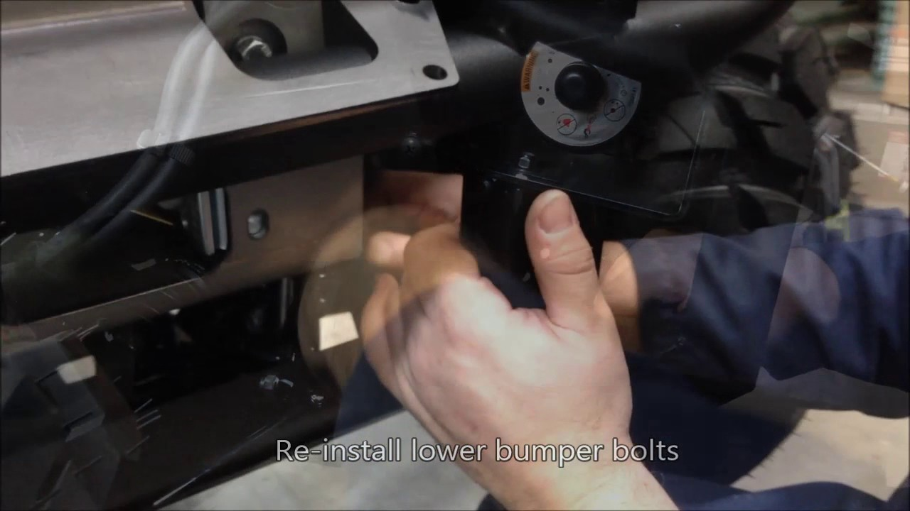 How To Install A Warn Winch Mount On The Kawasaki Mule Sx Youtube Polaris Rzr Wiring Diagram Further Prairie 360