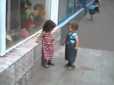 Little Boy Have A Big Crush On Little Girl