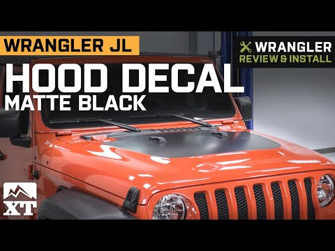 Jeep Wrangler JL Hood Decal - Matte Black Review And Install