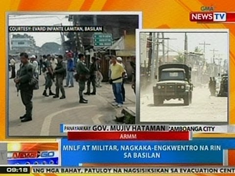 NTG: Panayam kay ARMM Gov. Mujiv Hataman kaugnay sa bakbakan ng MNLF at militar sa Basilan