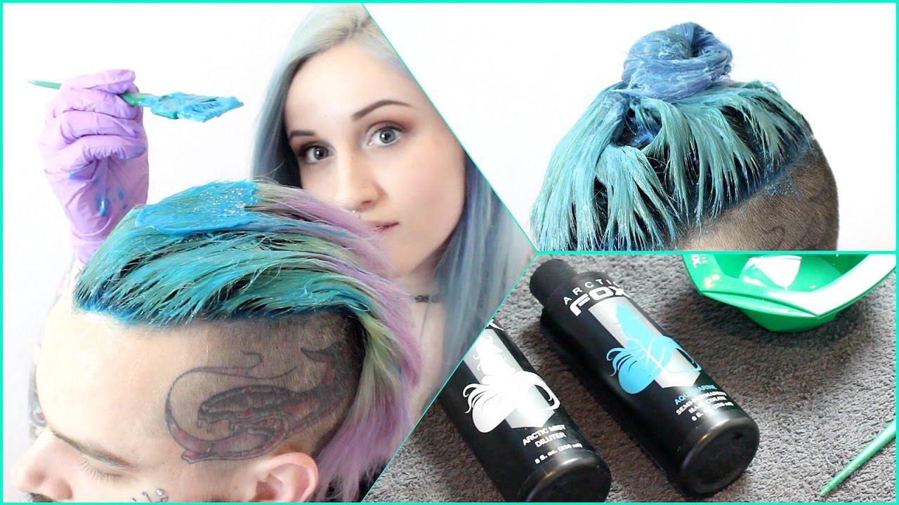 merman hair dye tutorial - youtube