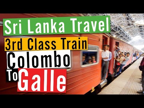 Sri Lanka Travel Vlog #3: 3rd Class Train Colombo to Galle