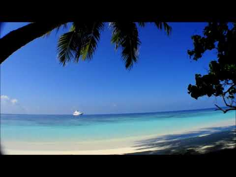 Maldives Beach Video with nature sound (10 min relaxing)