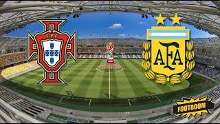 Пенальти РОНАЛДУ против МЕССИ Португалия против Аргентины