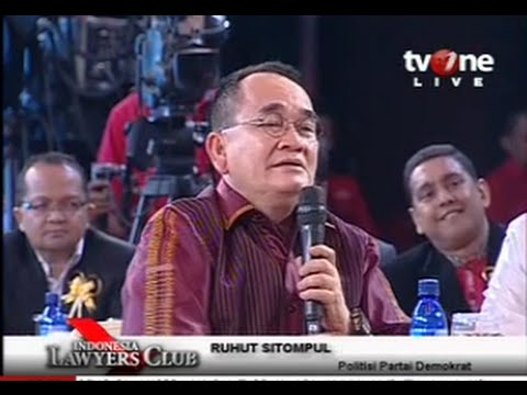 "Indonesia Lawyers Club (ILC) 25 Nov 2014 : Ruhut Sitompul :""Demokrat Partaiku Yang Terakhir"""