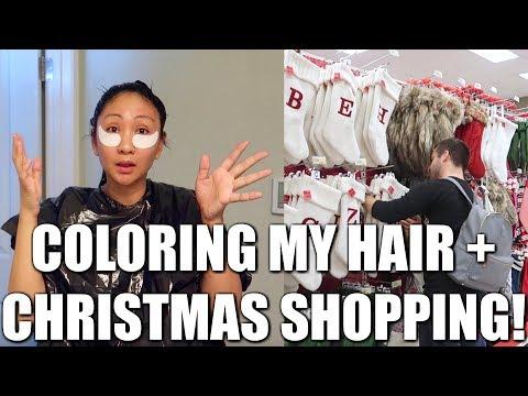 COLORING MY HAIR AT HOME + TARGET CHRISTMAS SHOPPING!