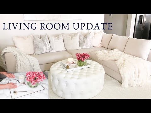LIVING ROOM UPDATE   SOFA REVIEW   COFFEE TABLE DIY