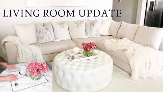 LIVING ROOM UPDATE | WAYFAIR SOFA REVIEW | COFFEE TABLE DIY