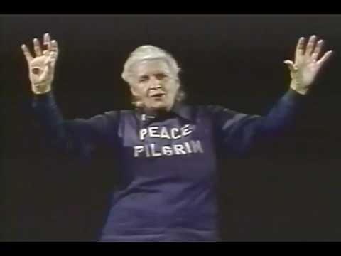 Peace Pilgrim speaks at Cal State Los Angeles
