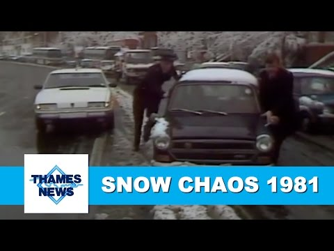 Snow Chaos in London 1981 | Thames News Weather Report