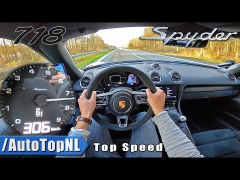 PORSCHE 718 SPYDER | 306km/h TOP SPEED On AUTOBAHN (NO SPEED LIMIT) By AutoTopNL