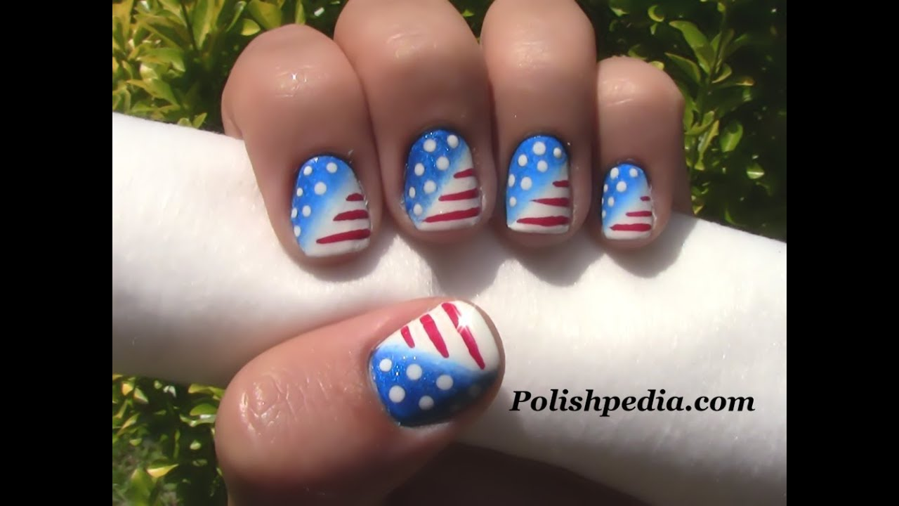 - Patriotic Nail Art 4th Of July Nails - YouTube