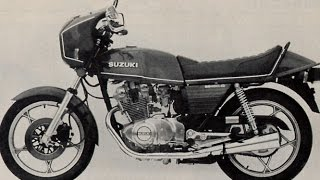 Suzuki GS 450 exhaust sound and fly by compilation