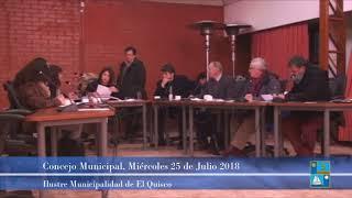 Concejo Municipal 25 Julio 2018 El Quisco