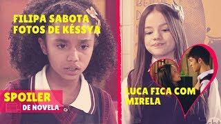 FILIPA ATRAPALHA FOTOS DE KÉSSYA + LUCA FICA COM MIRELA  | As Aventuras de Poliana