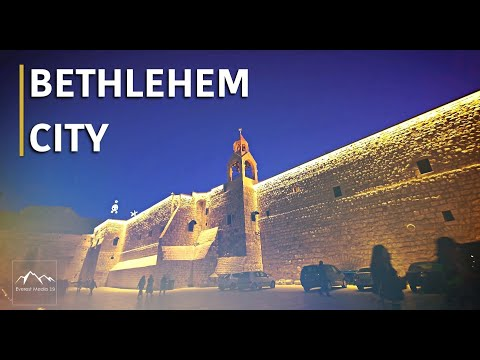 The Old City Of Bethlehem , The Birthplace Of Jesus Christ In 4K - Palestine