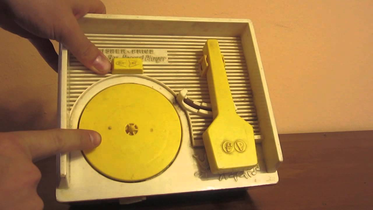 Vintage Fisher Price Toy Music Box Kids Record Player - toy still works and plays - YouTube