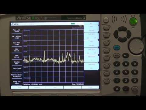 How To Select RBW And VBW Using Anritsu Handheld Spectrum Analyzers
