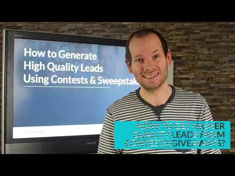 How to get higher quality leads from contests and giveaways