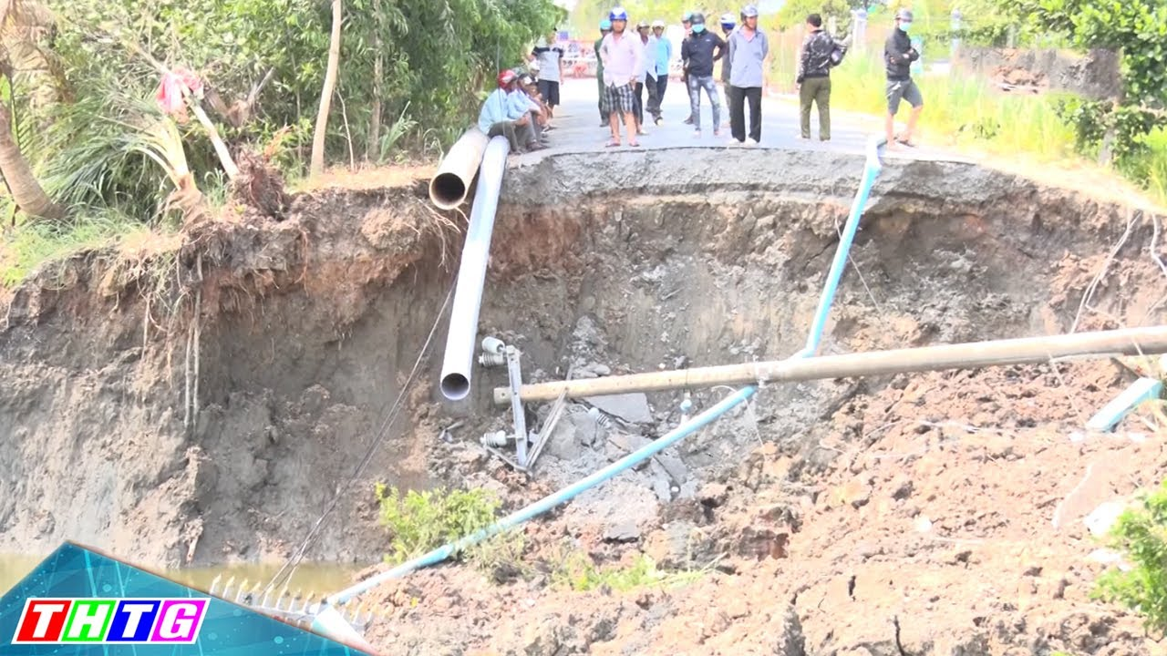 TX Gò Công: Cấm các phương tiện lưu thông qua đường tỉnh 873, đoạn Cầu Bình Thành do sạt lở