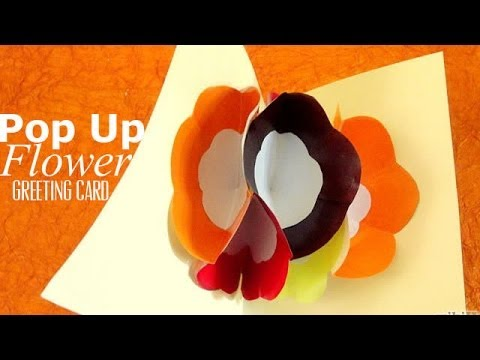 Diy pop up flower greeting card ventuno art all the way youtube m4hsunfo