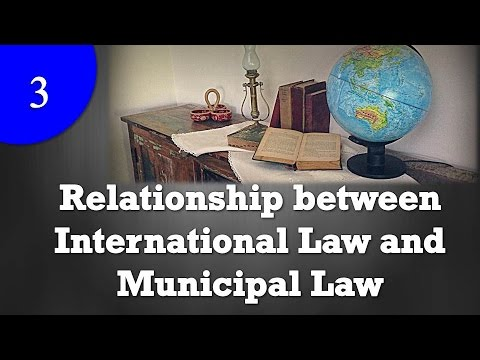 Relationship between International Law and Municipal Law  YouTube