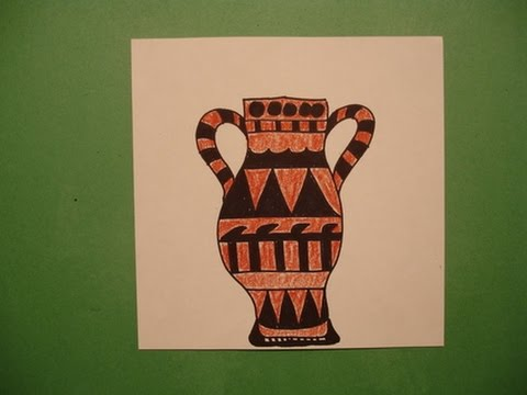 Let's Draw A Greek Vase YouTube Awesome Greek Vase Patterns