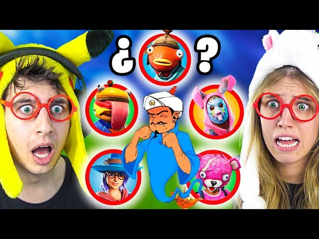 Puede Akinator ADIVINAR estas SKINS de Fortnite Battle Royale!?? (GUESS WHO CHALLENGE)