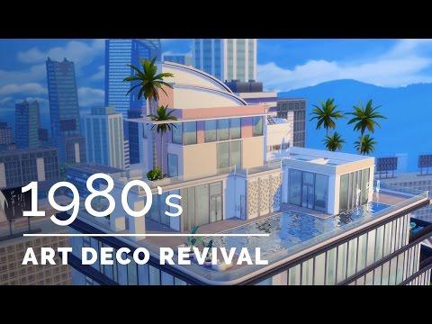 Sims 4  |  Decade Build Series  |  1980s Art Deco Revival