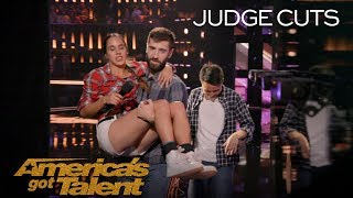 Vivien Vajda: Determined Jump Roper Performs With Ankle Injury - America's Got Talent 2018