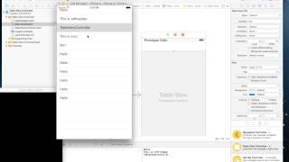 IOS Programming: Table View Tutorial in xcode 6.4 and swift