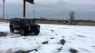 Hummer donuts and drifting