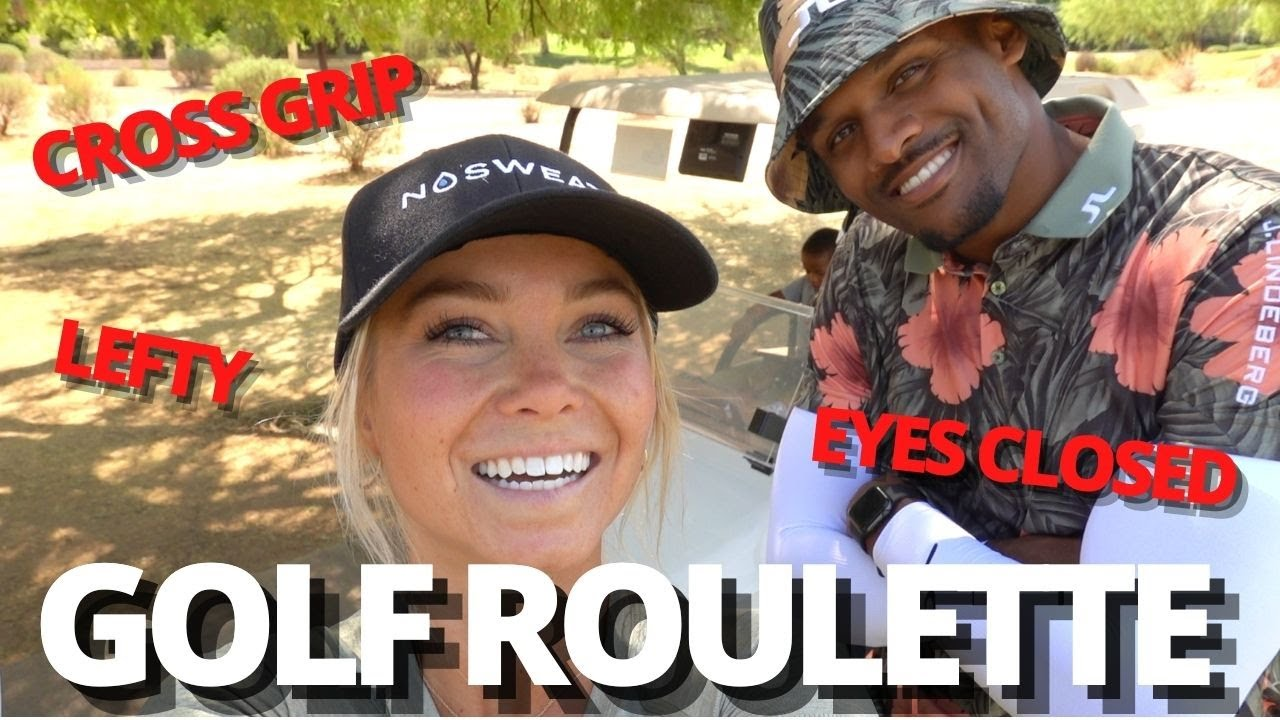 (GOLF) CAN WE PLAY GOLF WITH OUR EYES CLOSED?! GOLF ROULETTE