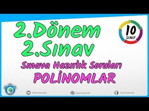 Polinomlar Tek Derste | Yazılıya Hazırlık | 10. Sınıf  | TYT
