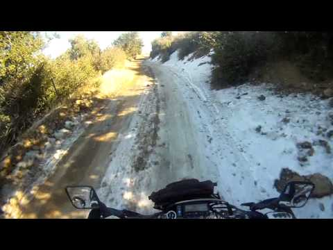 Snow in Orange County California??? Yup!!! - Saddleback Mountain DRZ400SM Supermoto