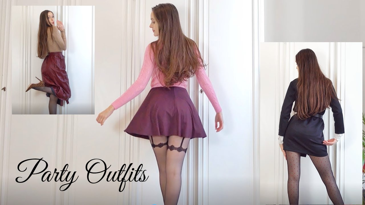 Try Outs with Tanya - Trying on Dresses, Skirts, Tights, Jeans for a Thanksgiving Party