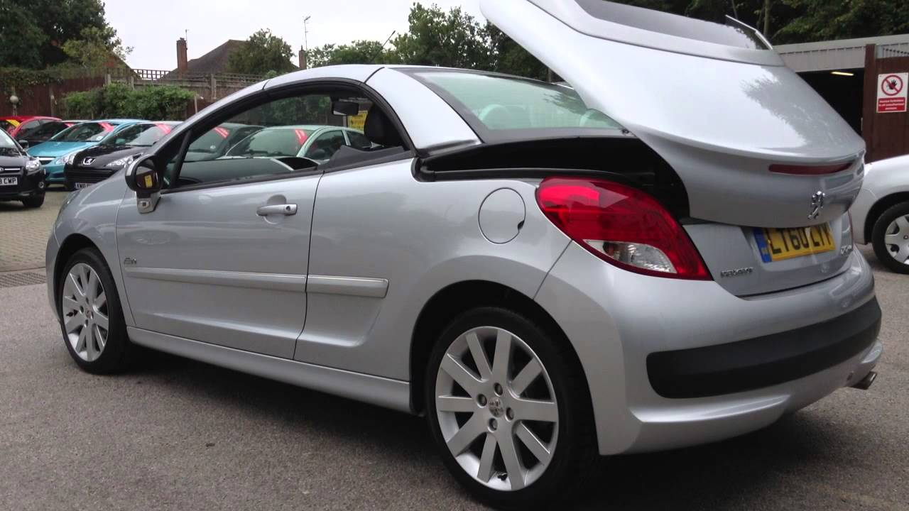 peugeot 207 cc allure 1 6 for sale at carzone redhill. Black Bedroom Furniture Sets. Home Design Ideas
