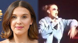 Millie Bobby Brown Rapea en Concierto con Adam Levine y Maroon 5
