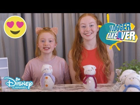 Vlogger Takeover | DIY - Sock Snowmen ⛄️ | Disney Channel UK