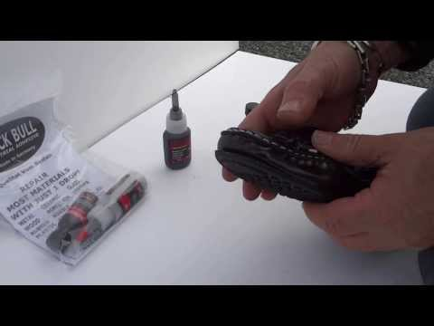 How to fix women shoes with flexible Black Epoxy Glue.