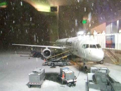 Snow storm at Ted Stevens Anchorage International Airport
