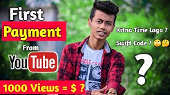 First Payment From Youtube !! My First Youtube Earning 🔥