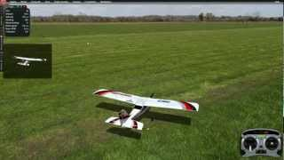 How to fly 4 channel RC airplane